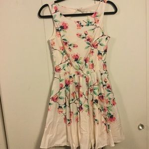 Lauren Conrad fit and flare floral dress